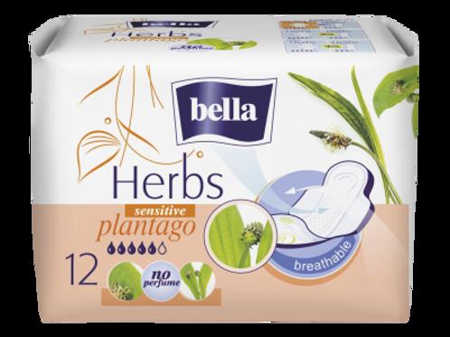 Bella Absorbante Herbs Sensitive Plantago - 12buc