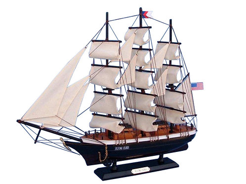 "Wooden Flying Cloud Tall Model Clipper Ship 24"""