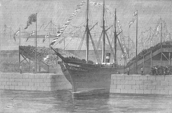 Ship out of Leith Harbour_1800