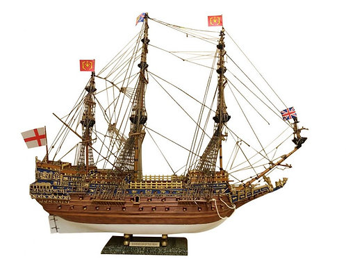 "Wooden Sovereign of the Seas Limited Tall Model Ship 39"" - Without Sails"