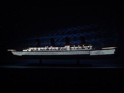 "RMS Aquitania Limited Model Cruise Ship 40"" w/ LED Lights"