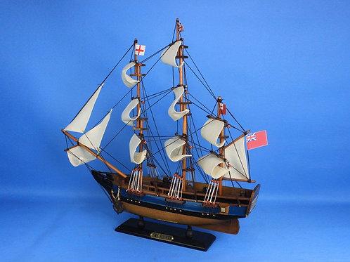 "Wooden HMS Bounty Tall Model Ship 20"""