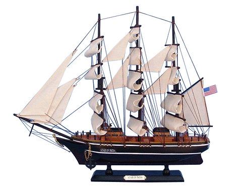 Wooden Star of India Tall Model Ship 24""