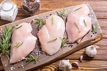 Raw chicken breast ( fillet ) with ingre