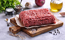 Raw Minced beef on a cutting board..jpg
