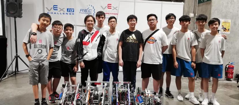 Macau VEX Championship 2018,  Excellent Award, Tournament Champions (VRC): Ultron