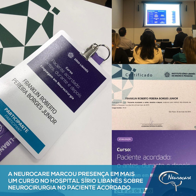 Curso no Hospital Sírio Libanês sobre Neurocirurgia em Paciente Acordado