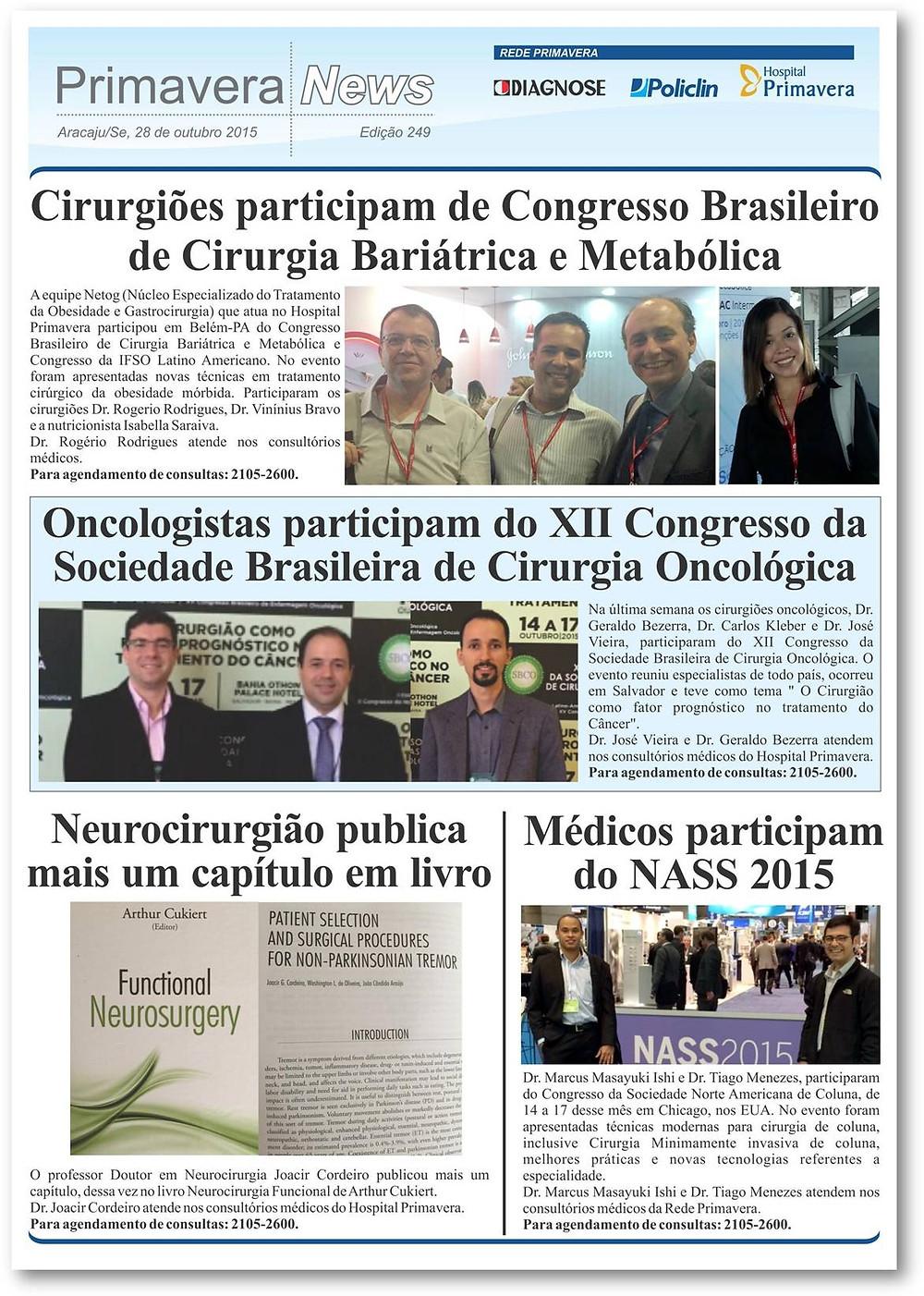 Dr. Joacir Cordeiro publica um capítulo do livro Neurocirurgia Funcional de Arthur Cukiert