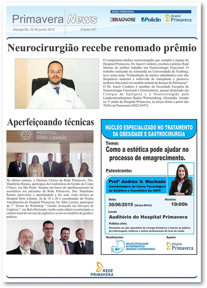 Neurocirurgião recebe renomado prêmio