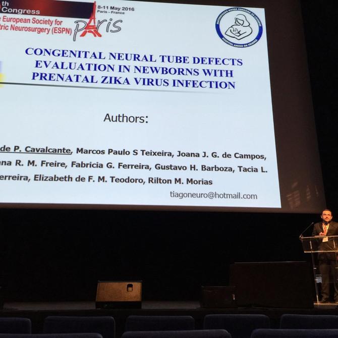 Dr. Tiago Cavalcante no Congresso Europeu de Neurocirugia Pediatrica