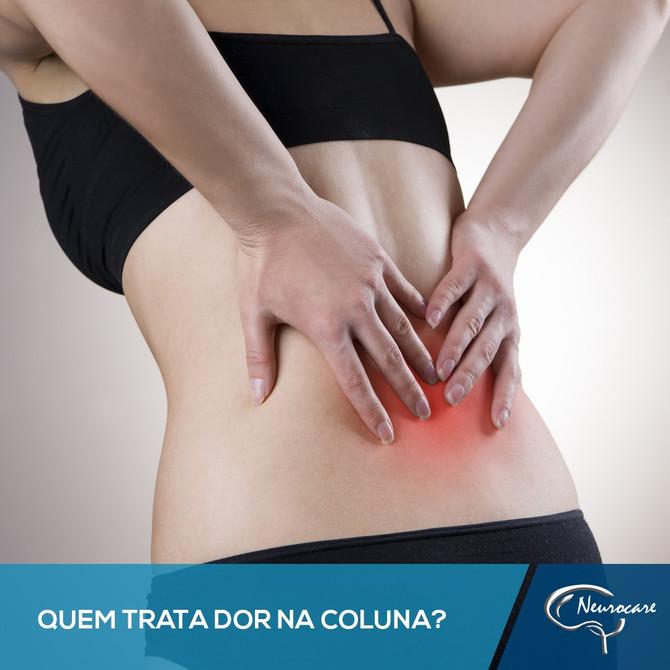 Quem trata dor na coluna?