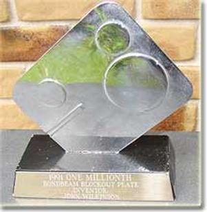 Award Winning Wilko Plate (Blockout Plate)