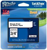 Brother TZe-241 3/4 In. Black On White P-touch Tape