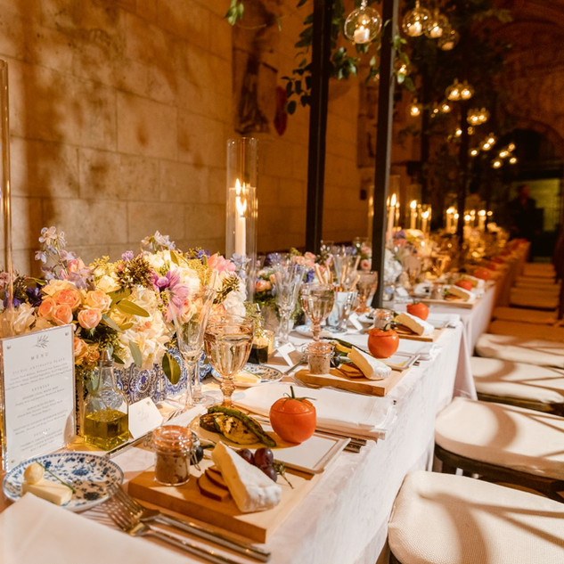 Elegant Dinner with Candles