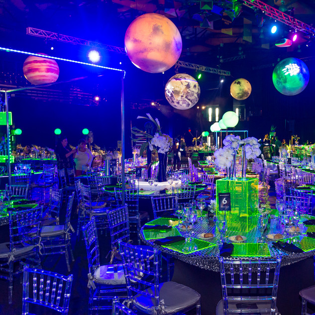 Neon color theme gala