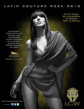Latin Couture Week Poster