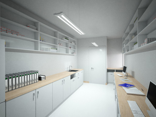 Render Pharma Interior