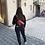 red fringe pouch model