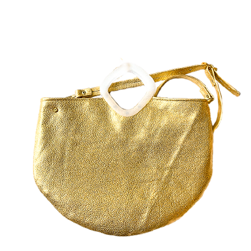 Vintage Inspired Gold Tote
