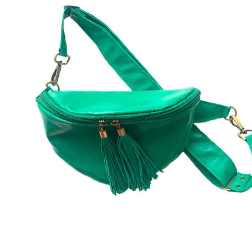 Green/turquoise pouch