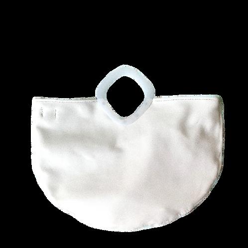 White Retro Tote Bag