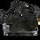 Black zipper clutch bag