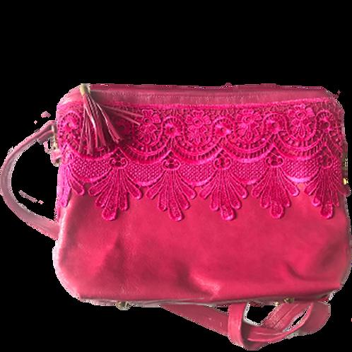pink fuchsia clutch bag
