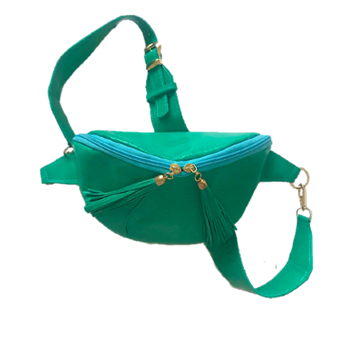 Zipper Green-Turquoise Small Pouch