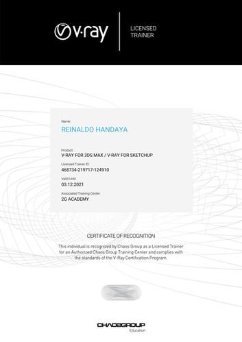 Licensed Trainer Reinaldo Handaya