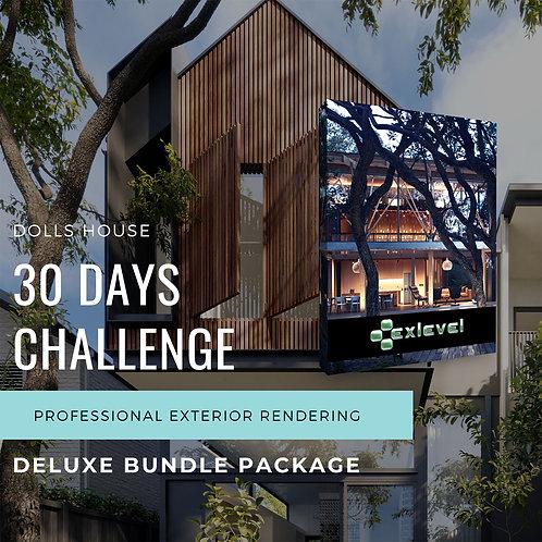 30 Days Challenge Exterior Rendering Deluxe Bundle Package