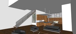 interior living/dining/kitchen