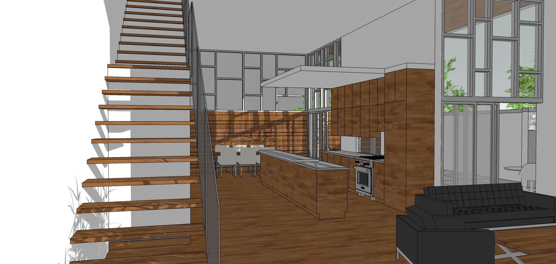 interior living/kitchen