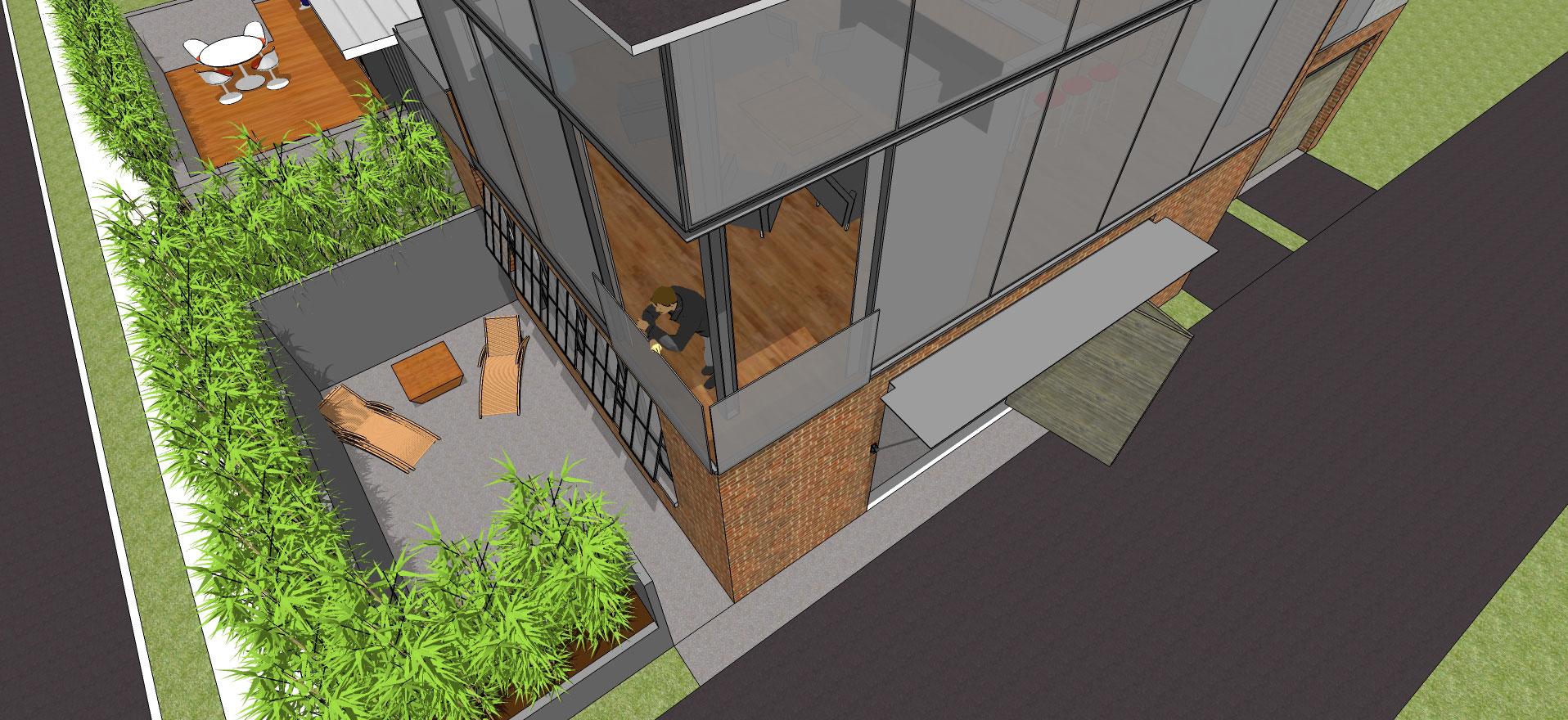 442 Tuscarora detail - patio