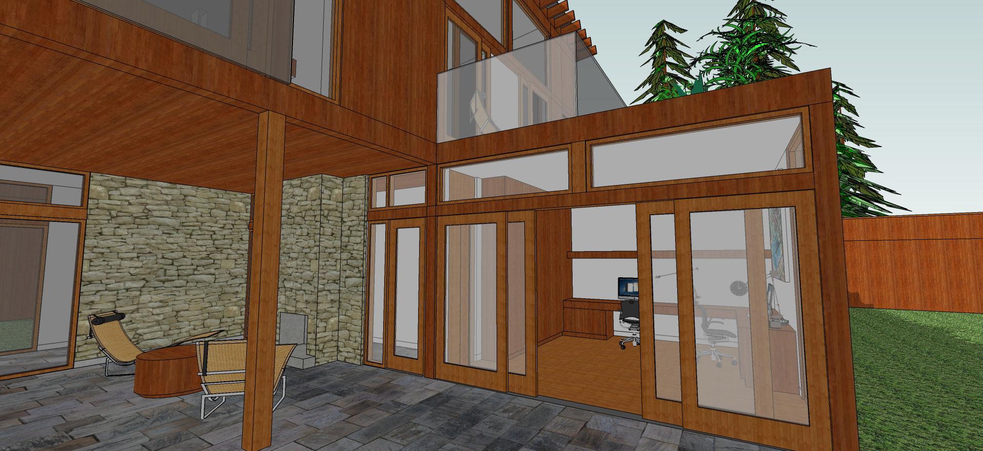 exterior office/outdoor room