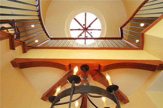 stairwell looking to skylight