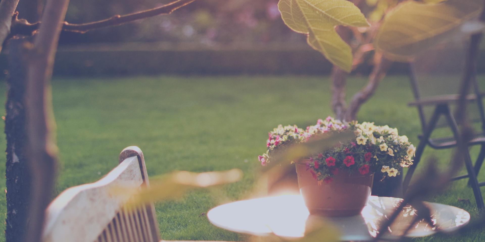 Trädgården är en förlängning av huset. Här kan du antingen uppleva fantastisk avkoppling och skönhet eller få en känsla av stress. När man skapar sin trädgård efter sina behov så får man en trädgård att glädjas åt.