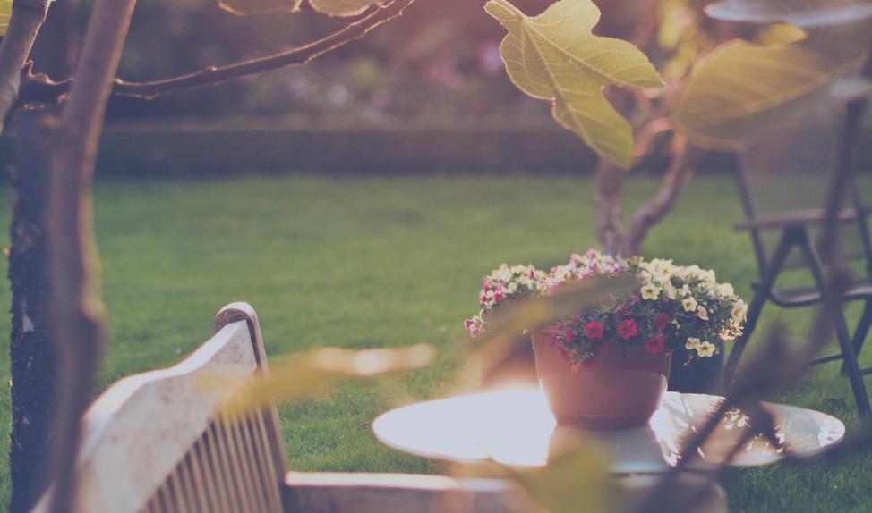 Zahradní kout ve Vraném