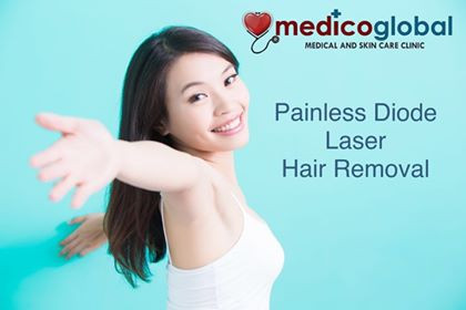 Painless Diode Laser Hair Removal at Medico Global Clinic Taguig