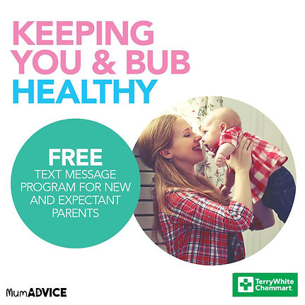 Keeping you and bub healthy. Free text message program for new and expectant parents