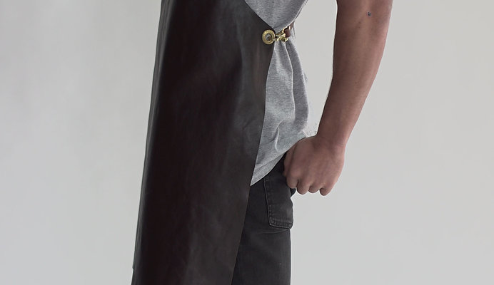 BRUMBY LEATHER APRON