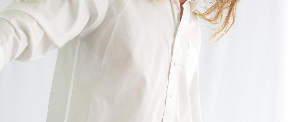 DENVER LONG SLEEVE SHIRT - WHITE