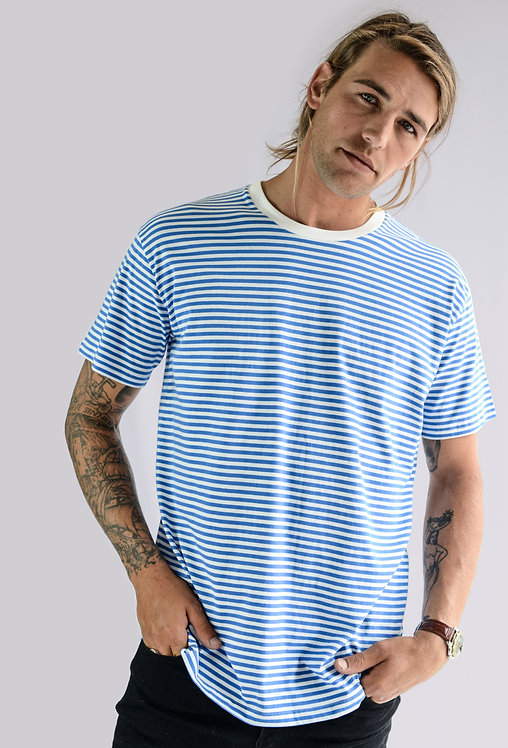 BEACHWOOD MENS SHORT SLEEVE TEE - SKY BLUE