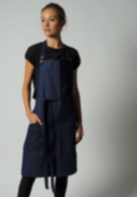BRONSON NAVY DENIM APRON