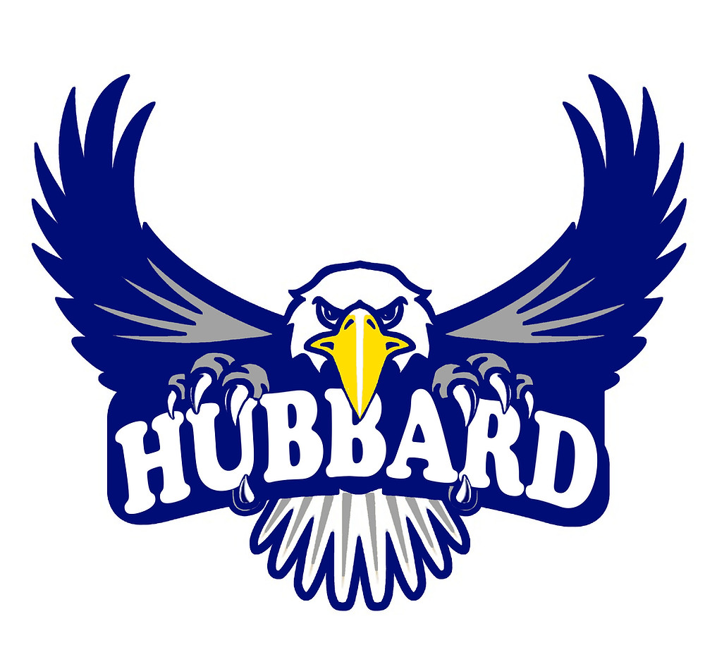 """Picture of an eagle with the word """"hubbard"""" on it"""