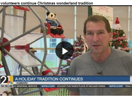 Mr. Mike continues a holiday tradition at Hubbard Elementary