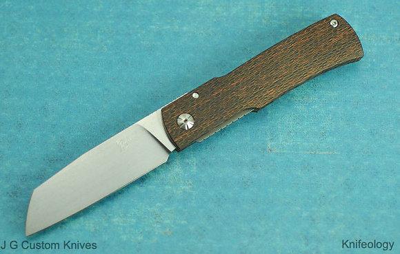 JG Custom Knives - Gunstock (Copper Sidecut)