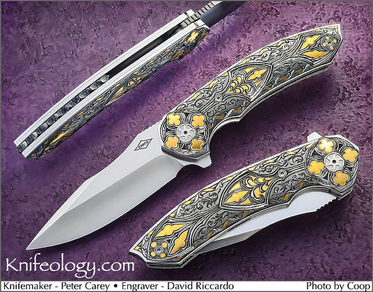 Peter Carey Cornerstone Flipper engraved by David Riccardo