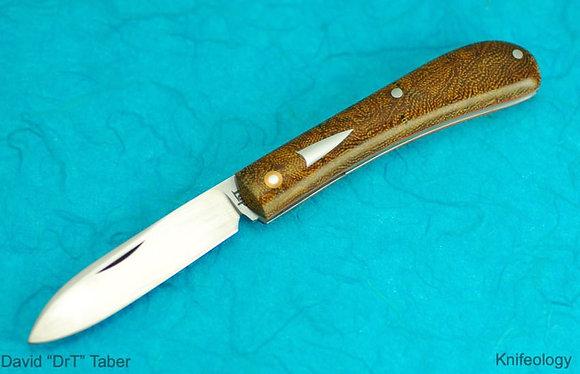 """David """"DrT"""" Taber - Mini Zulu Spear (Rag Micarta)"""