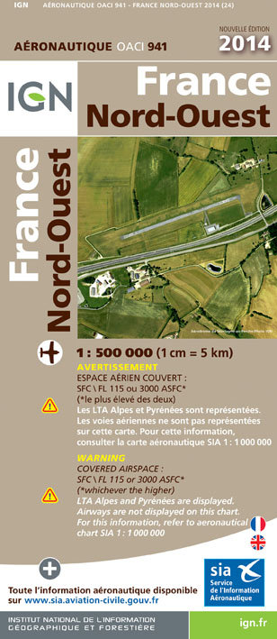 Carte IGN 1:500 000 NORD OUEST