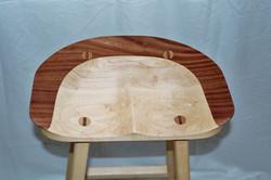 Mahogany & maple bar stool